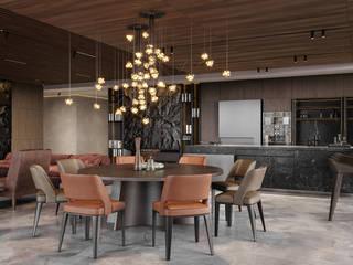 Salas de estar modernas por IQOSA Moderno