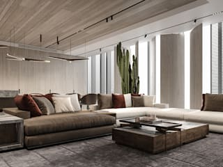 Modern living room by IQOSA Modern