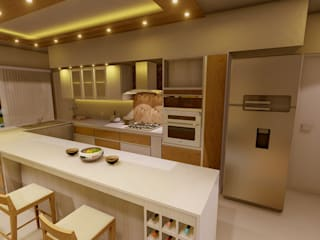 Aida tropeano& Asociados Modern kitchen Engineered Wood Beige