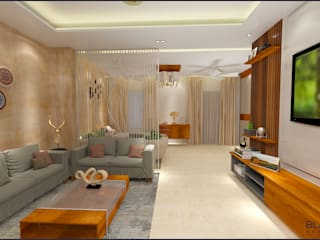 Residential Project Interior Design Modern living room by Blackbuck Architects Modern