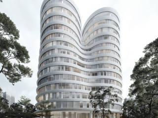 Khlong Toei KDNDA Bangunan Kantor Modern Besi/Baja White
