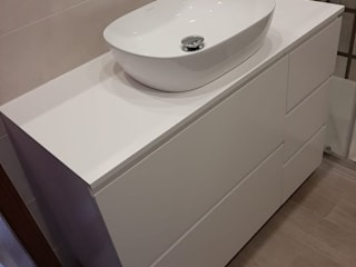BestMoveis BathroomStorage MDF Grey