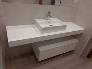 BestMoveis BathroomStorage MDF White