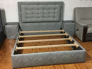 BestMoveis BedroomBeds & headboards Grey