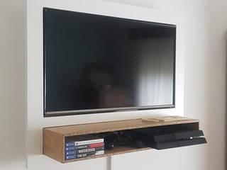 Moveis TV BestMoveis Sala de estarTV e mobiliário MDF Branco