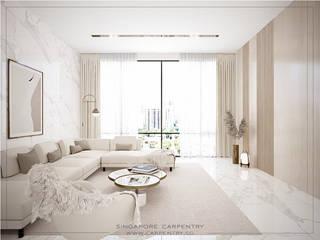 Modern living room by Singapore Carpentry Interior Design Pte Ltd Modern