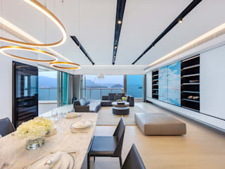 A Modern-Classic Design with a 720° Sea View - Mayfair By The Sea, Hong Kong Grande Interior Design Classic style dining room