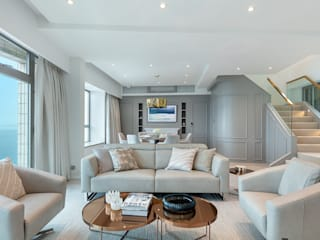 Different Layers of Grey for a Light-European Home - Villa Sorrento, Hong Kong Classic style living room by Grande Interior Design Classic