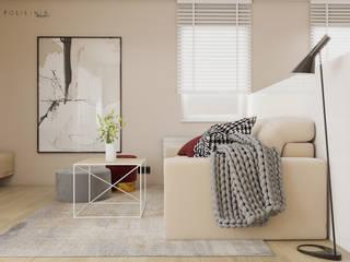 Mieszkanie Katowice #3 Nowoczesny salon od Polilinia Design Nowoczesny