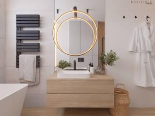 Łazienka - dom Toruń Nowoczesna łazienka od Polilinia Design Nowoczesny