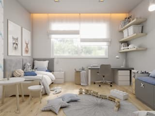 Pokój chłopczyka - dom Mikołów Nowoczesny pokój dziecięcy od Polilinia Design Nowoczesny