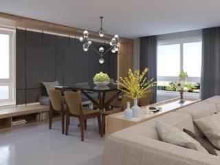 Manuela Di Giorgio | Arquitetura e Interiores Ruang Makan Modern