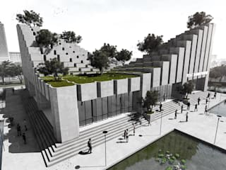 Pusat Jajan Modern KDNDA Kolam Beton Grey