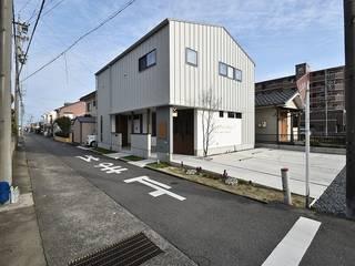 home × hair design インダストリアルな商業空間 の Ju Design 建築設計室 インダストリアル