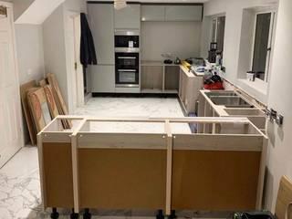 Cocina - light grey Alto Brillo de hidesign.mx Moderno