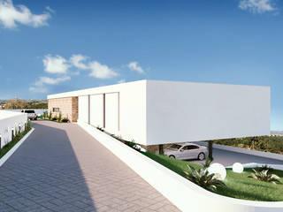Casa da Encosta Montachique | Mafra | Início de Construção por DR Arquitectos Moderno