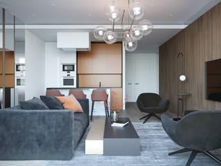Minimalistische woonkamers van Оксана Мухина Minimalistisch
