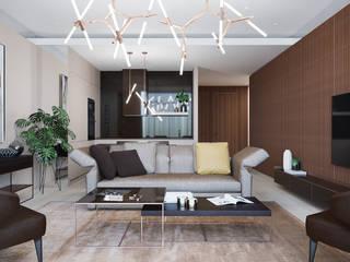 Living room#4 Гостиная в стиле минимализм от Оксана Мухина Минимализм