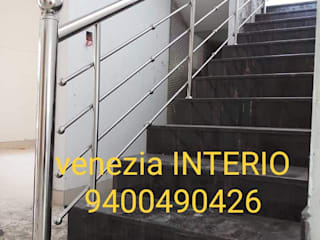 THRISSUR - STAIRCASE - STAINLESS STEEL HANDRAIL 9400490326: classic  by BANGALORE ALUMINIUM Kitchen 9400490326- MODULAR KITCHEN BANGALORE & THRISSUR KITCHEN Home INTERORS ALUMINIUM KITCHEN BANGALORE,Classic