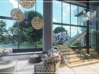 Juan Jurado Arquitetura & Engenharia Escalier Bois massif Effet bois