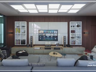 Juan Jurado Arquitetura & Engenharia Salon moderne Blanc