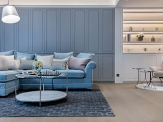 Savouring Elegance Stylish Blooming - Carnation Court, Hong Kong Grande Interior Design Classic style living room Blue