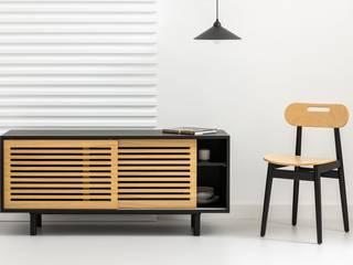 take me HOME Sala de estarTV e mobiliário Madeira Efeito de madeira