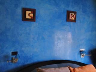 pinturas decorativas en paredes y techos Pintores Juan Jiménez Dormitorios de estilo moderno Mármol Azul