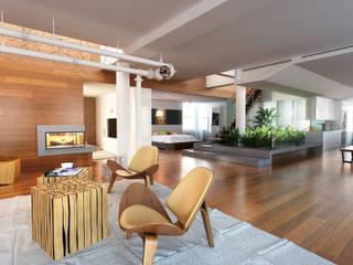 Diseño de Loft Estudios y despachos modernos de Arquitectura Progresiva Moderno