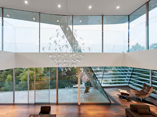Haus B Najjar - Najjar Architekten Moderne Wohnzimmer Massivholz Braun