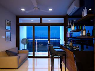 Monnaie Interiors Pvt Ltd Living roomCupboards & sideboards Wood Wood effect