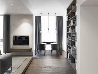 degma studio Modern Living Room Wood Grey