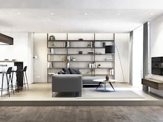 degma studio Modern Living Room Concrete Grey
