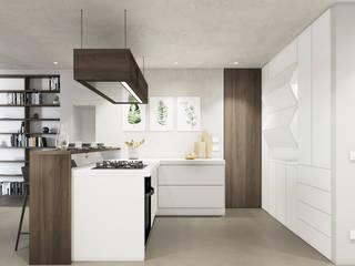 degma studio Modern Kitchen Wood White