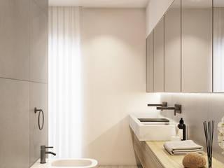 degma studio Modern Bathroom Wood White