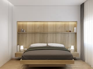 degma studio Modern Bedroom Wood White