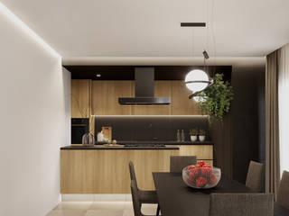 degma studio Modern Kitchen Wood Black