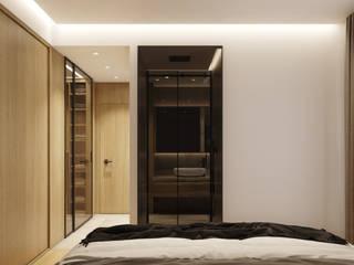 degma studio Modern Bedroom Glass