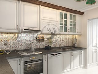 İMHOTEP COUNTRY FURNİTURE Proje Tasarım&Aydınlatma Built-in kitchens Solid Wood White