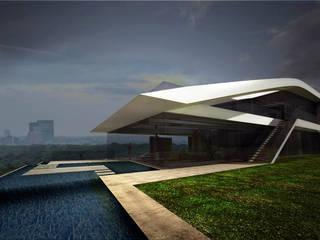 Haus P Najjar - Najjar Architekten Villa Aluminium/Zink Weiß