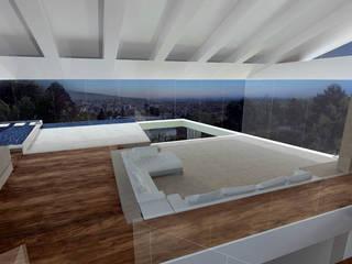 Haus P Najjar - Najjar Architekten Moderne Wohnzimmer Massivholz Braun