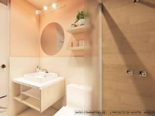 DISEÑO RESIDENCIAL - CASAS Y DEPARTAMENTOS Yeniffer Jimenez - Diseño y Decoración de Interiores Baños de estilo minimalista