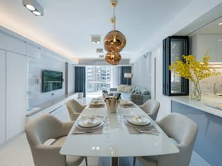 An Innovative Living Space - Parc Royale, Hong Kong Grande Interior Design Modern dining room