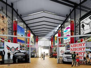 Pasar Modern Jcity - Medan Bral Studio Architecture Dinding & Lantai Modern