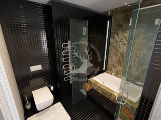 İMHOTEP COUNTRY FURNİTURE Proje Tasarım&Aydınlatma Modern bathroom Ceramic Black