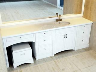 İMHOTEP COUNTRY FURNİTURE Proje Tasarım&Aydınlatma Country style bathroom OSB White