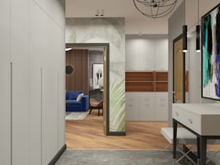 Квартира 160 м2 Жукова 13 Дизайн Студия 33 Коридор, прихожая и лестница в модерн стиле