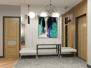 Дизайн Студия 33 Modern Corridor, Hallway and Staircase