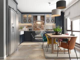 İMHOTEP COUNTRY FURNİTURE Proje Tasarım&Aydınlatma Kitchen units OSB Grey