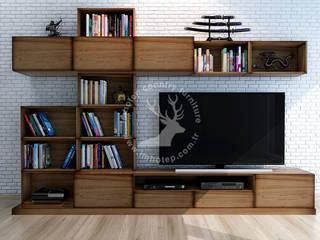 İMHOTEP COUNTRY FURNİTURE Proje Tasarım&Aydınlatma Modern living room Solid Wood Wood effect